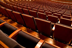Rows of empty chairs. Before cultural event Royalty Free Stock Photography