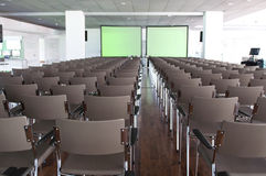 Rows of empty chairs in conference room Royalty Free Stock Photography