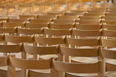 Rows of empty chairs. Before cultural event Royalty Free Stock Image