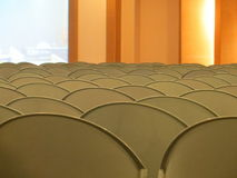 Rows of empty chairs. Rows of empty chairs in a function room Royalty Free Stock Images