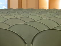 Rows of empty chairs. Stock Photo