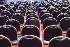 Rows of empty chairs Royalty Free Stock Photo