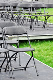 Rows of empty chairs outdoor Royalty Free Stock Images