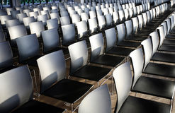 Rows of empty chairs prepared for an indoor event Royalty Free Stock Photo