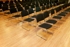 Rows of empty chairs in a seminar hall Royalty Free Stock Photo
