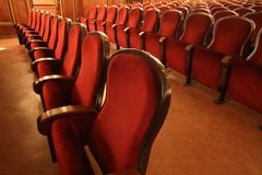 Rows of empty red seats in theater, opera or cinema Stock Image