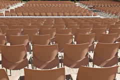 Rows of empty seats Stock Images