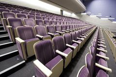 Rows of empty seats interior Stock Photography