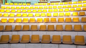 Rows of empty seats stock video
