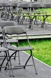 Rows of empty seats Stock Photos