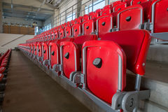 Rows of empty seats Royalty Free Stock Photos