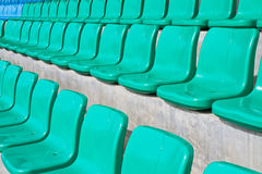 Rows of empty seats in stadium Royalty Free Stock Photography