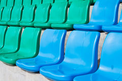 Rows of empty seats in stadium Royalty Free Stock Photos