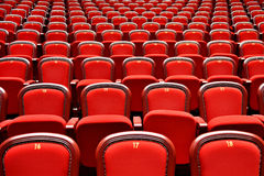 Rows with empty seats in a theater Royalty Free Stock Photos