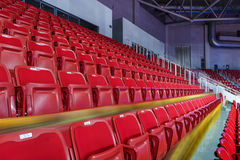 Rows of empty seats Stock Image