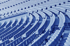 Rows of empty seats waiting for the audience in the gym Royalty Free Stock Photo