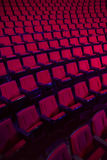 Rows of empty theater seats Stock Image