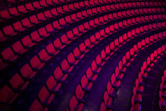 Rows of empty theater seats Stock Images