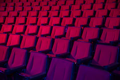 Rows of empty theater seats Royalty Free Stock Image