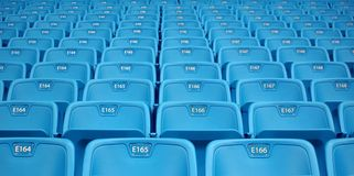 Rows of Emtpy Seats Royalty Free Stock Images