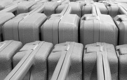 Rows of exercise mats in supermarket Stock Images