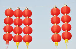 Rows of exotic Red Lantern Royalty Free Stock Photography