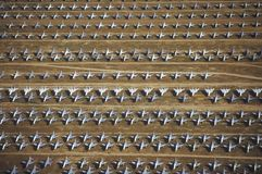 Rows of F-4 Military Aircraft Royalty Free Stock Photos