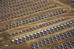Rows of F-4 Military Aircraft, Davis Montham Air Force Base, Tucson, Arizona Stock Photography