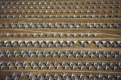 Rows of F-4 Military Aircraft, Davis Montham Air Force Base, Tucson, Arizona Royalty Free Stock Photography