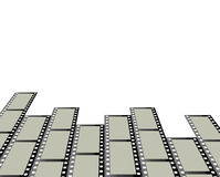 Rows of film strips. Rows of camera or movie film strips with a white background Royalty Free Stock Photo