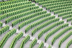 Rows of folded in empty stadium Stock Photos