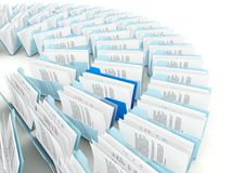Rows of folders Royalty Free Stock Photography