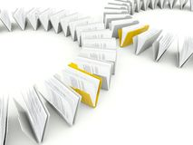 Rows of folders with files Royalty Free Stock Photography