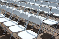 Rows of folding chairs Stock Photography