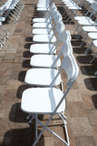 Rows of folding chairs Royalty Free Stock Image