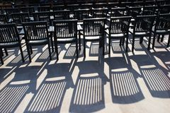 Rows of free chairs royalty free stock images