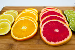 Rows of fruit circles Stock Photo