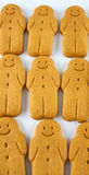 Rows of gingerbread men Stock Photos