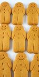 Rows of gingerbread men Stock Photos