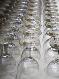 Rows of Glasses Royalty Free Stock Images