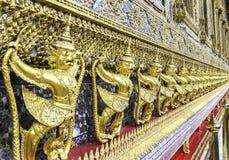 Rows of Golden Garuda Royalty Free Stock Photos