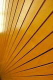 Rows of Golden Tightly Fitted Wooden Slats Background Stock Image