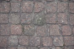 Rows of granite setts from above stock photography