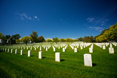 Rows of Grave Markers Royalty Free Stock Image