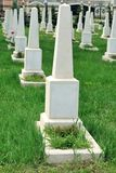 Rows of graves Stock Photo