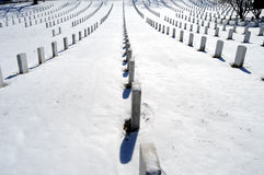 Rows of graves at Arlington Stock Photos
