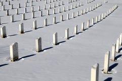 Rows of graves at Arlington Stock Photo