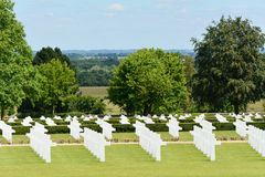 Rows of graves US Military World War Two cemetery Stock Images