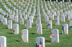 Rows of Gravestones Stock Photo