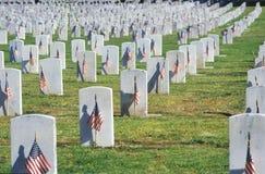 Rows of Gravestones, Los Angeles, California Royalty Free Stock Photo